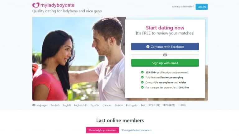 My Ladyboy Date homepage
